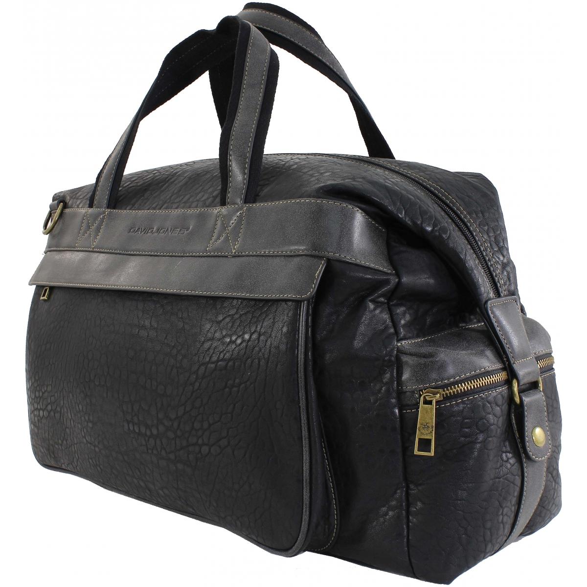 sac de voyage 48h david jones djcm0798a couleur principale black. Black Bedroom Furniture Sets. Home Design Ideas