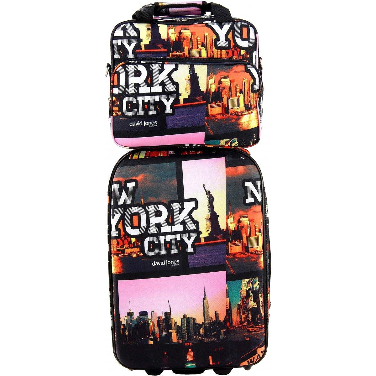 valise cabine ryanair vanity david jones r10022 couleur principale new york promotion. Black Bedroom Furniture Sets. Home Design Ideas