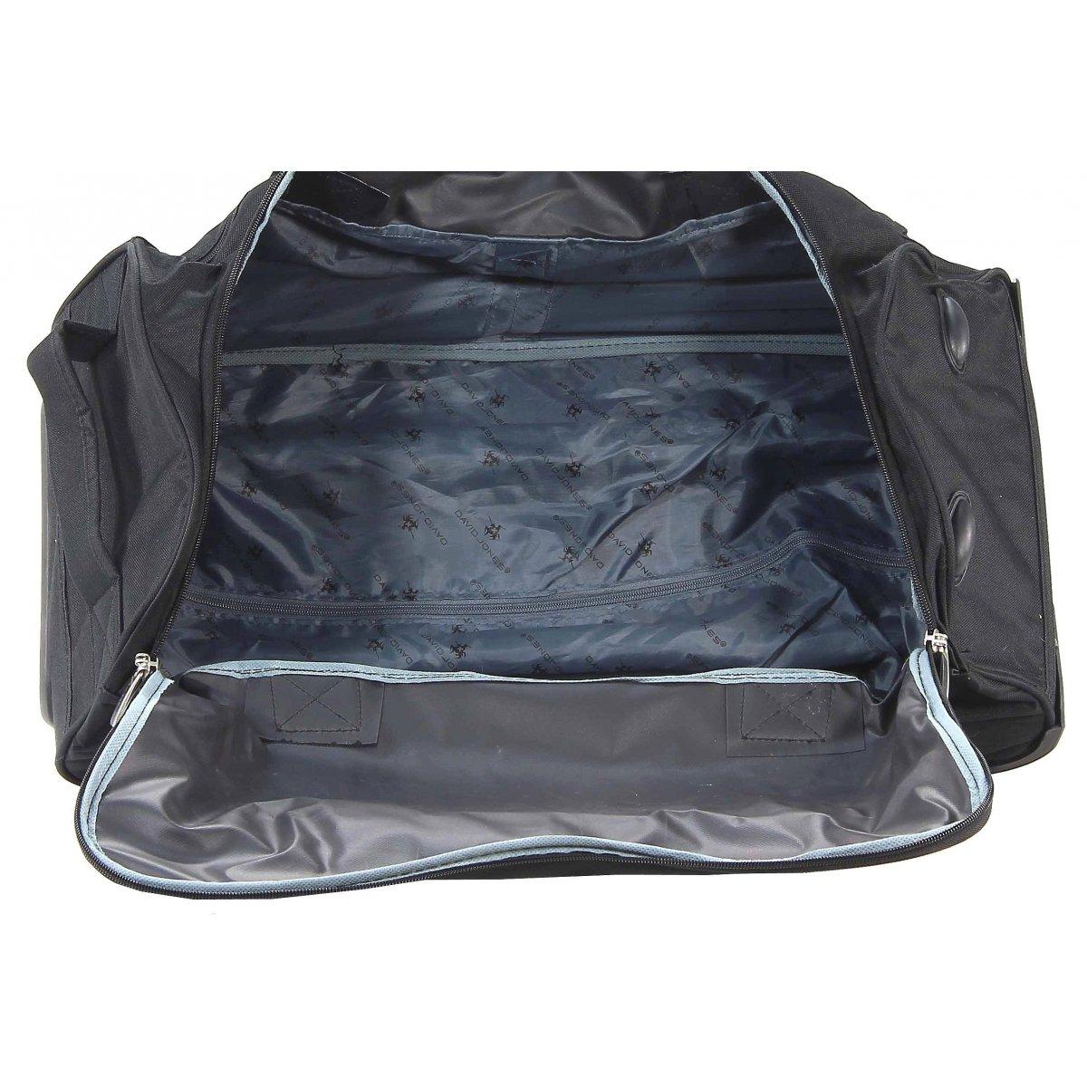 sac de voyage roulettes david jones b10001l couleur principale nyc gris promotion. Black Bedroom Furniture Sets. Home Design Ideas