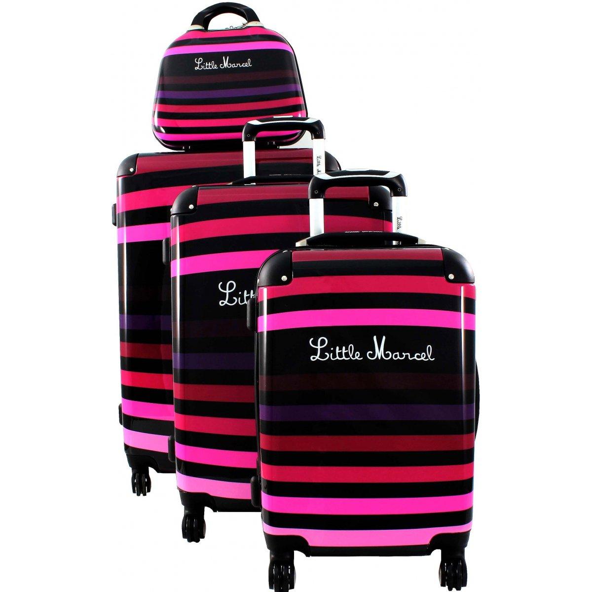 Lot 3 valises 1 vanity little marcel marne50 couleur - Trousse little marcel pas cher ...