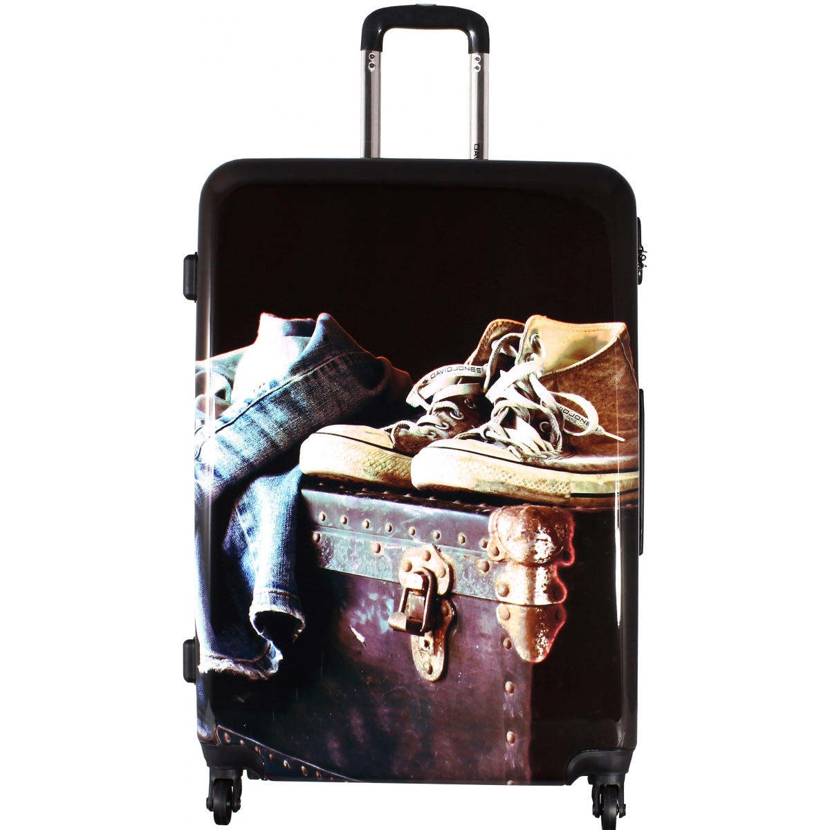 valise rigide david jones taille m 67cm ba20521m couleur principale jean valise pas cher. Black Bedroom Furniture Sets. Home Design Ideas