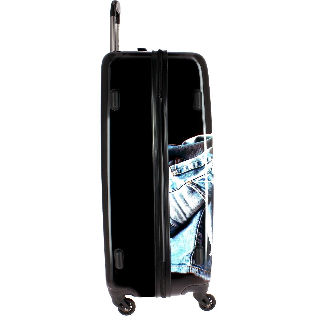 valise rigide david jones taille m 67cm ba20521m couleur principale jean promotion. Black Bedroom Furniture Sets. Home Design Ideas