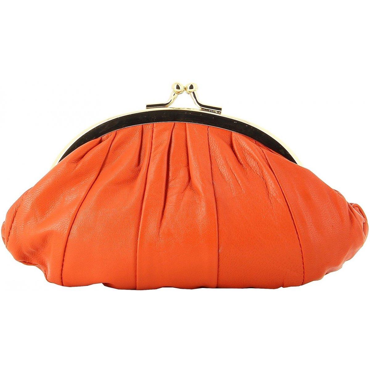 porte monnaie bleucerise en cuir 705 couleur principale orange. Black Bedroom Furniture Sets. Home Design Ideas