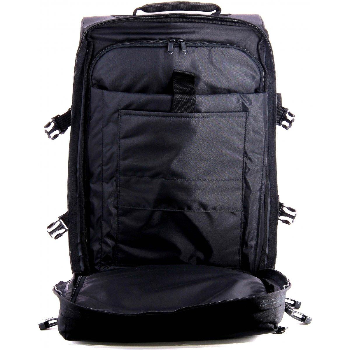 sac de voyage dos roulettes eastpak ek956 ek956008 couleur principale 008 black. Black Bedroom Furniture Sets. Home Design Ideas