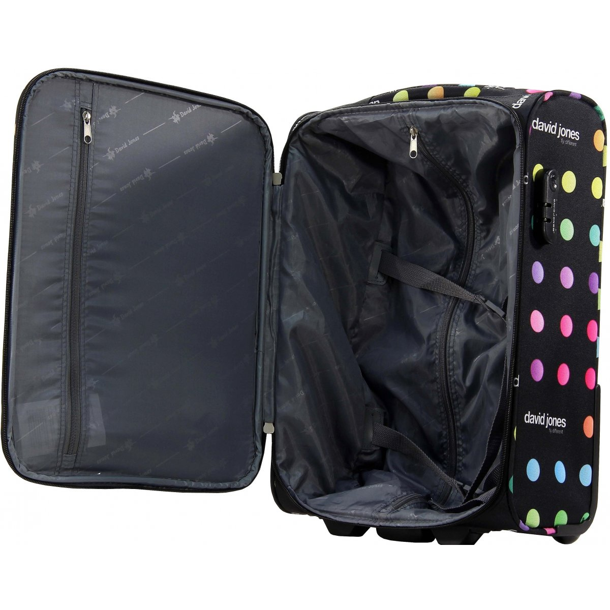 valise cabine ryanair david jones taille 50 cm r20031p couleur principale pois promotion. Black Bedroom Furniture Sets. Home Design Ideas