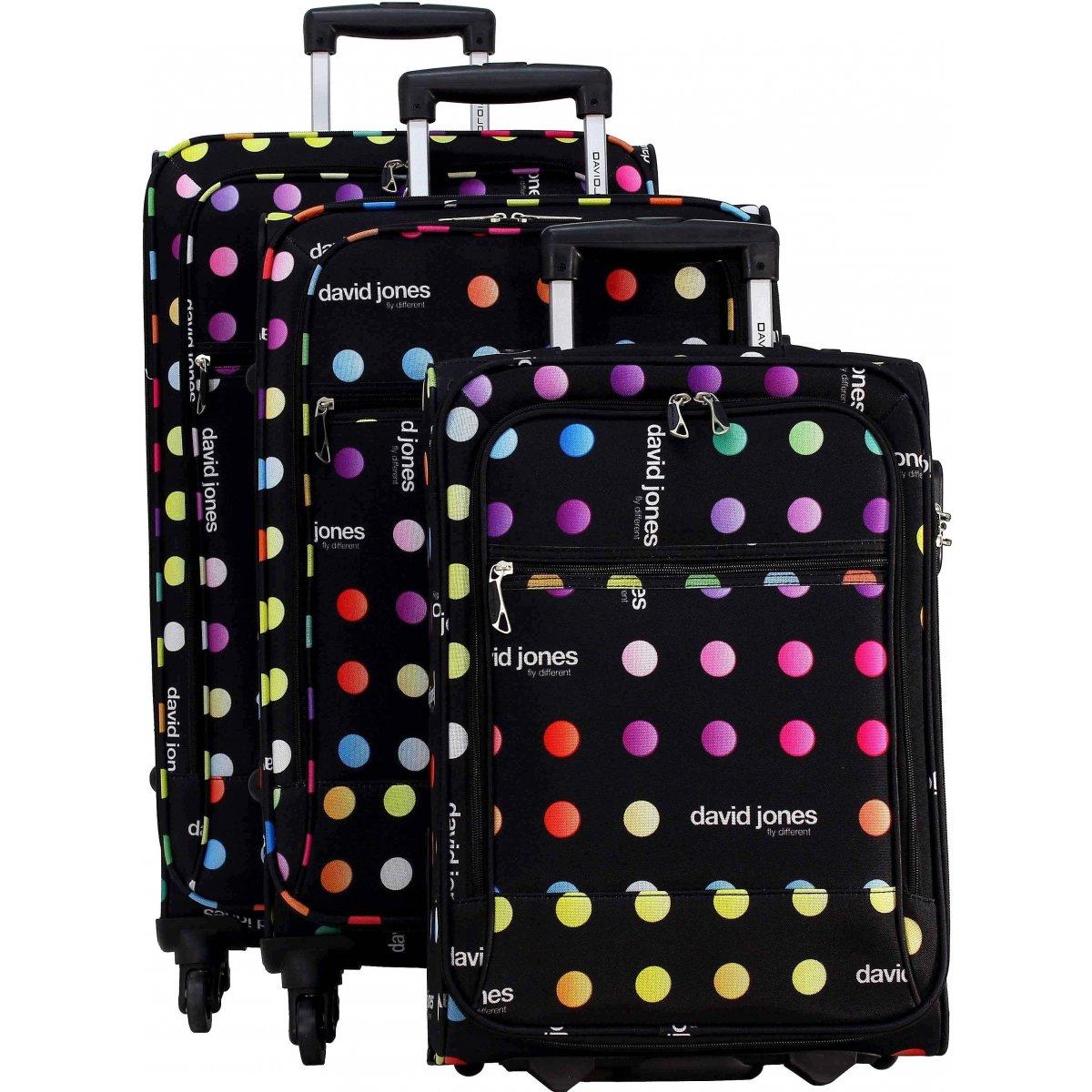 lot 3 valises dont 1 cabine ryanair david jones ba50173 couleur principale little. Black Bedroom Furniture Sets. Home Design Ideas