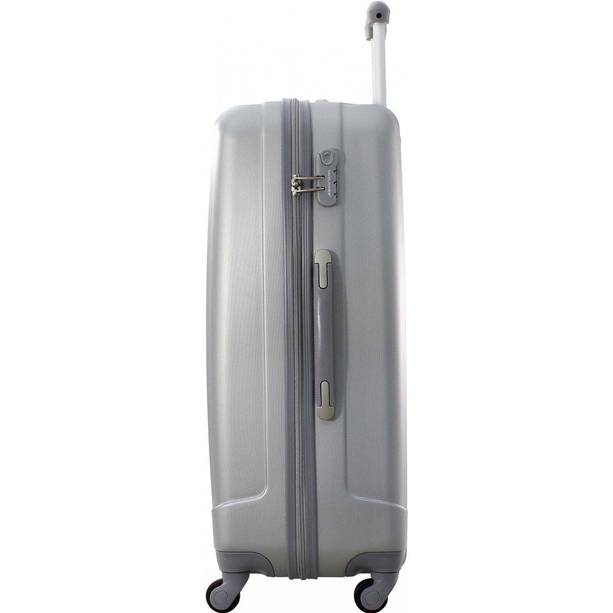 lot 3 valises dont 1 cabine david jones ba10113 couleur principale silver promotion. Black Bedroom Furniture Sets. Home Design Ideas