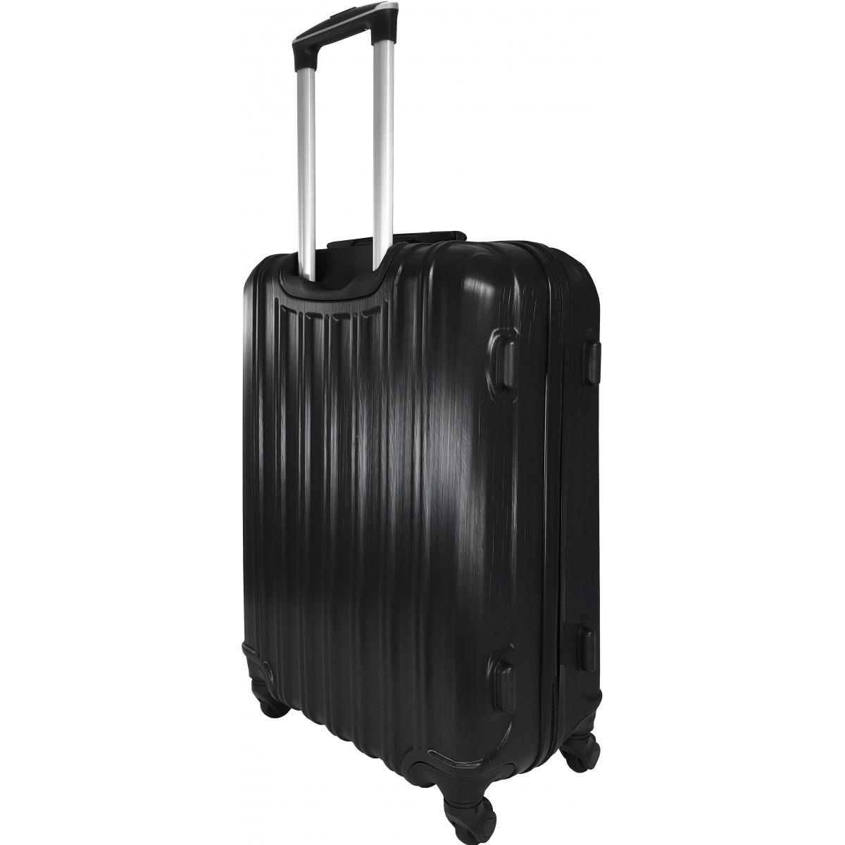 lot 3 valises dont 1 valise cabine david jones noir ba10293 couleur principale noir. Black Bedroom Furniture Sets. Home Design Ideas