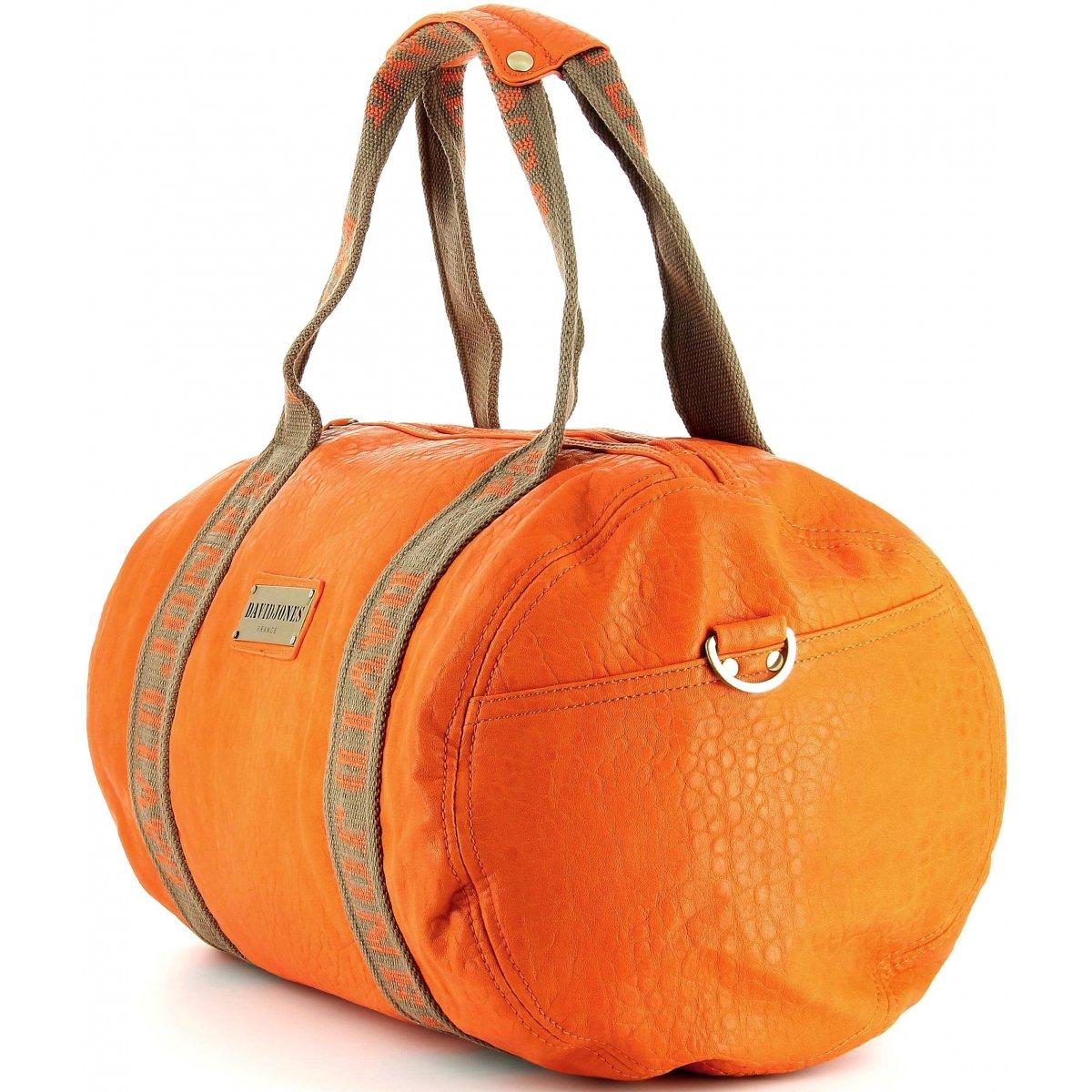 sac de voyage 48h david jones djcm004512 couleur orange promotion. Black Bedroom Furniture Sets. Home Design Ideas