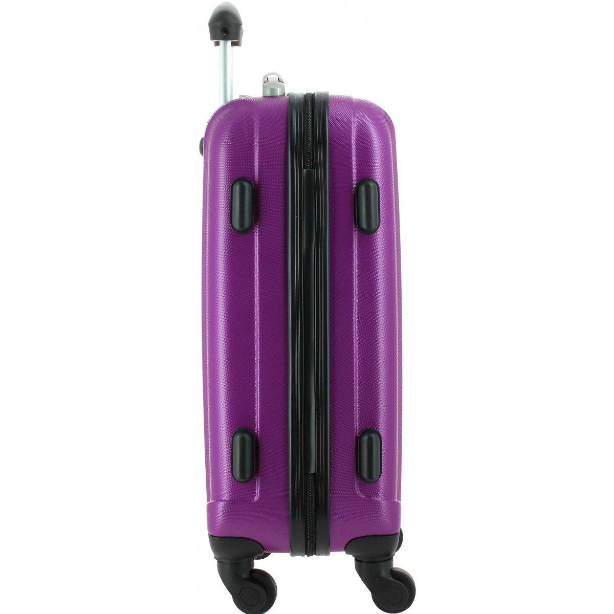valise cabine david jones ba10111p couleur principale violet promotion. Black Bedroom Furniture Sets. Home Design Ideas
