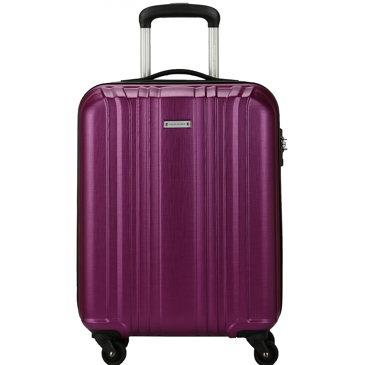 valise cabine rigide david jones 55cm ba10171p couleur principale purple valise pas cher. Black Bedroom Furniture Sets. Home Design Ideas