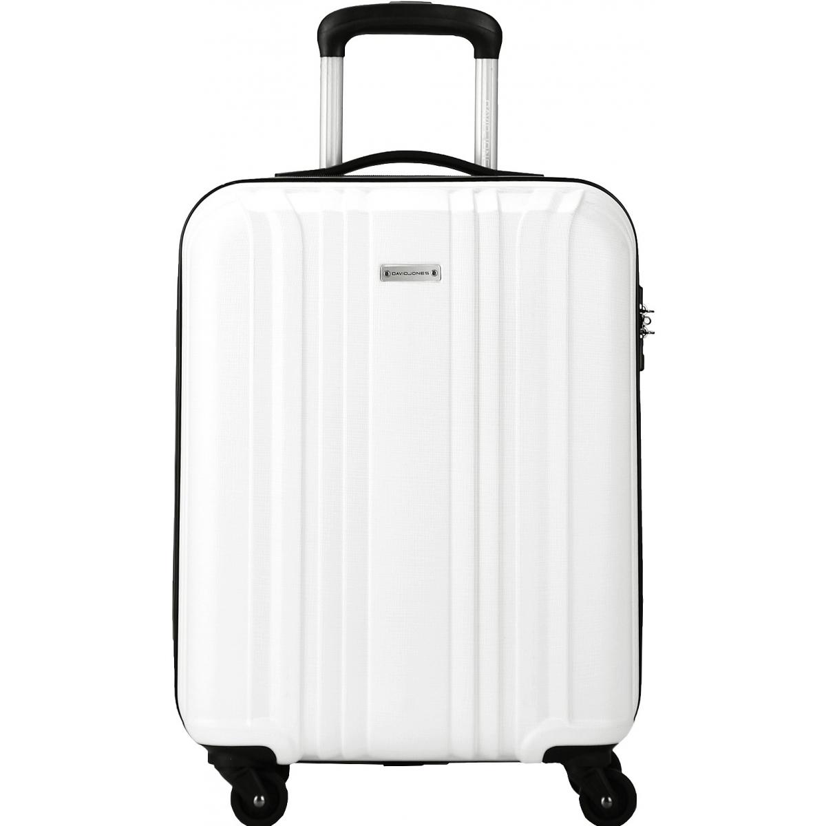valise cabine rigide david jones 55cm ba10171p couleur principale white promotion. Black Bedroom Furniture Sets. Home Design Ideas