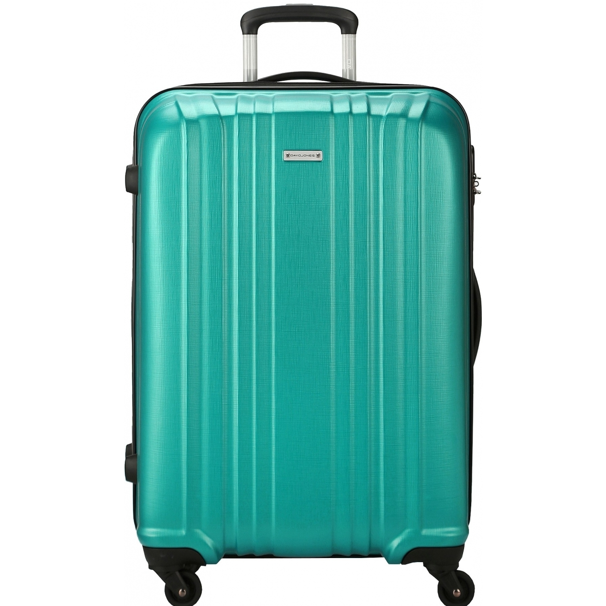 valise rigide david jones taille g 76cm ba10171g couleur principale turquoise promotion. Black Bedroom Furniture Sets. Home Design Ideas