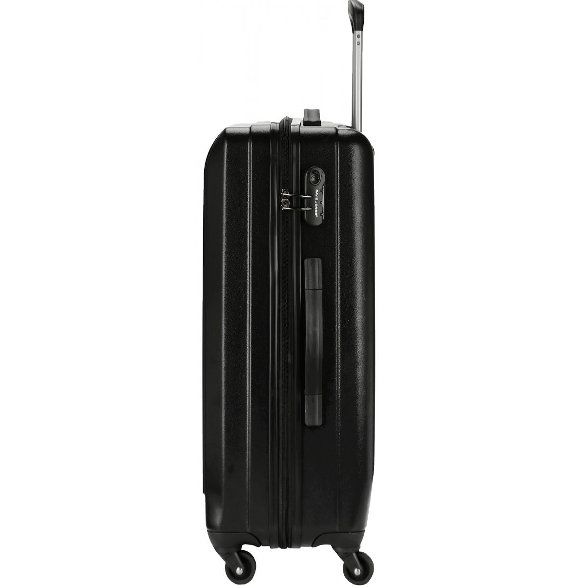 valise rigide david jones taille m 66cm ba10151m couleur principale black valise pas. Black Bedroom Furniture Sets. Home Design Ideas
