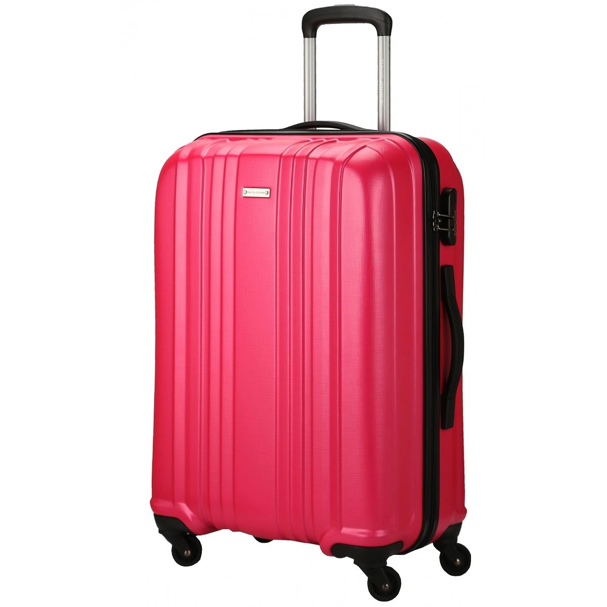 valise rigide david jones taille m 66cm ba10171m couleur principale fushia promotion. Black Bedroom Furniture Sets. Home Design Ideas