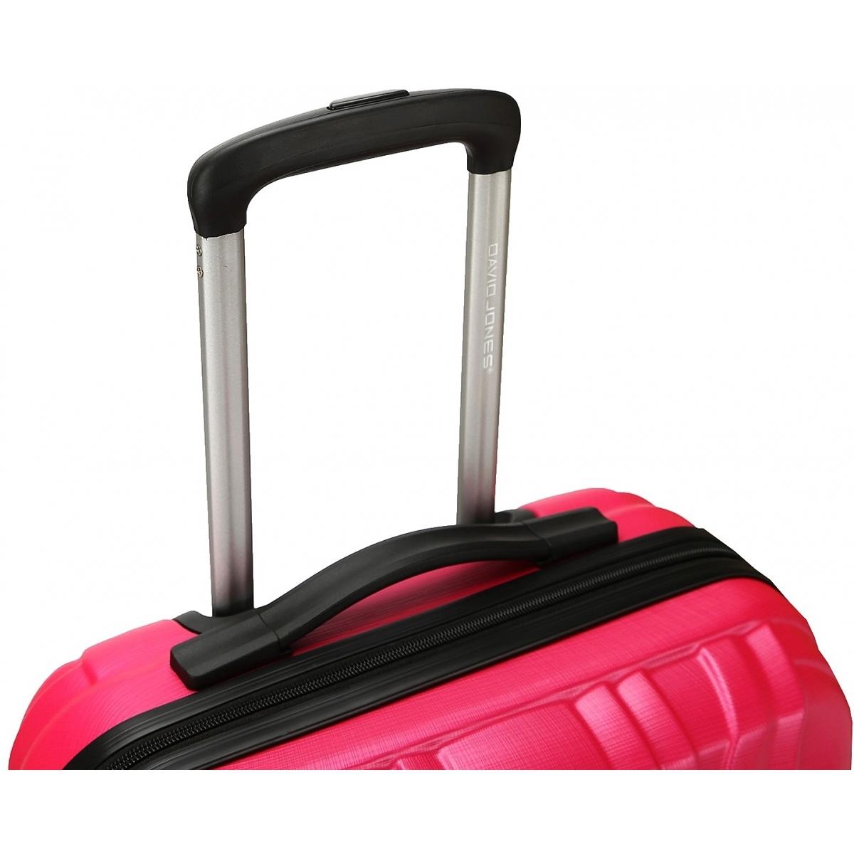 valise rigide david jones taille g 76cm ba10171g couleur principale fushia promotion. Black Bedroom Furniture Sets. Home Design Ideas