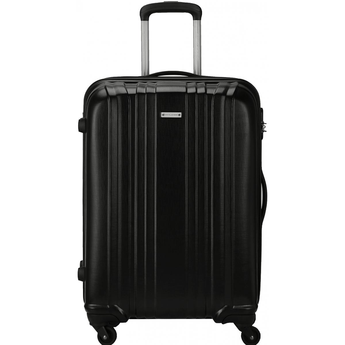 valise rigide david jones taille m 66cm ba10171m couleur principale black solde. Black Bedroom Furniture Sets. Home Design Ideas