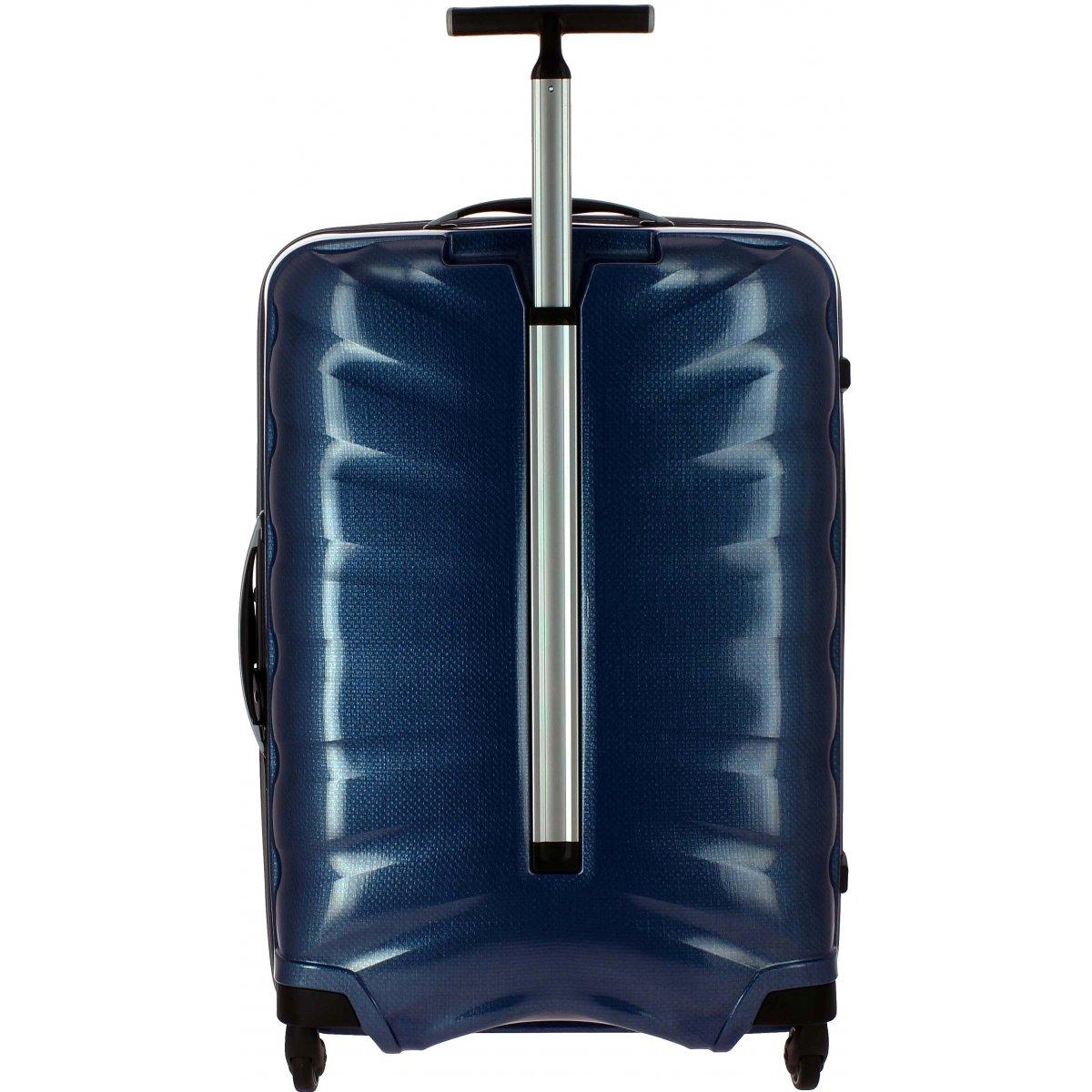 valise samsonite firelite spinner 75 cm firelite61 couleur principale dark blue promotion. Black Bedroom Furniture Sets. Home Design Ideas