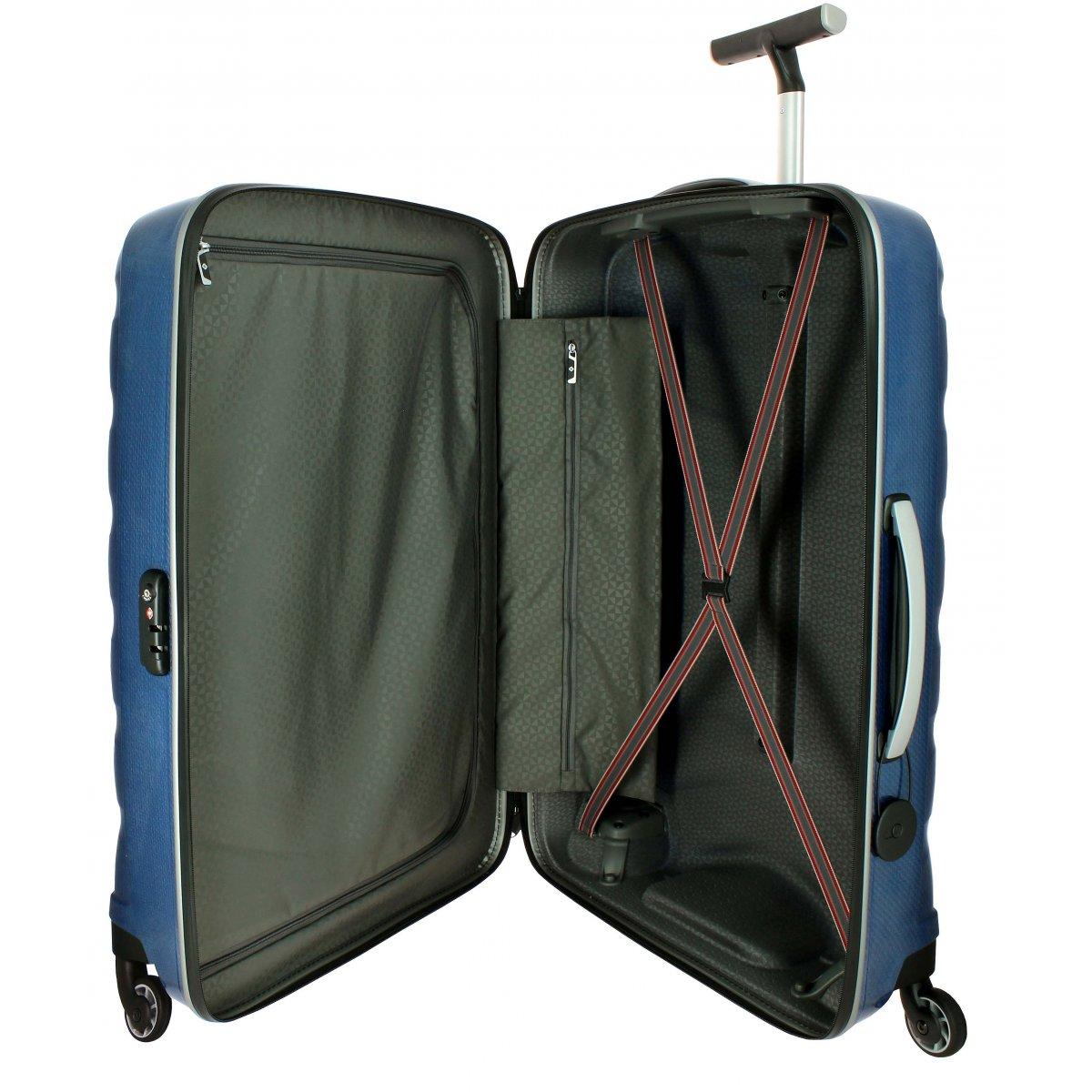valise samsonite firelite spinner 81 cm firelite86 couleur principale dark blue promotion. Black Bedroom Furniture Sets. Home Design Ideas