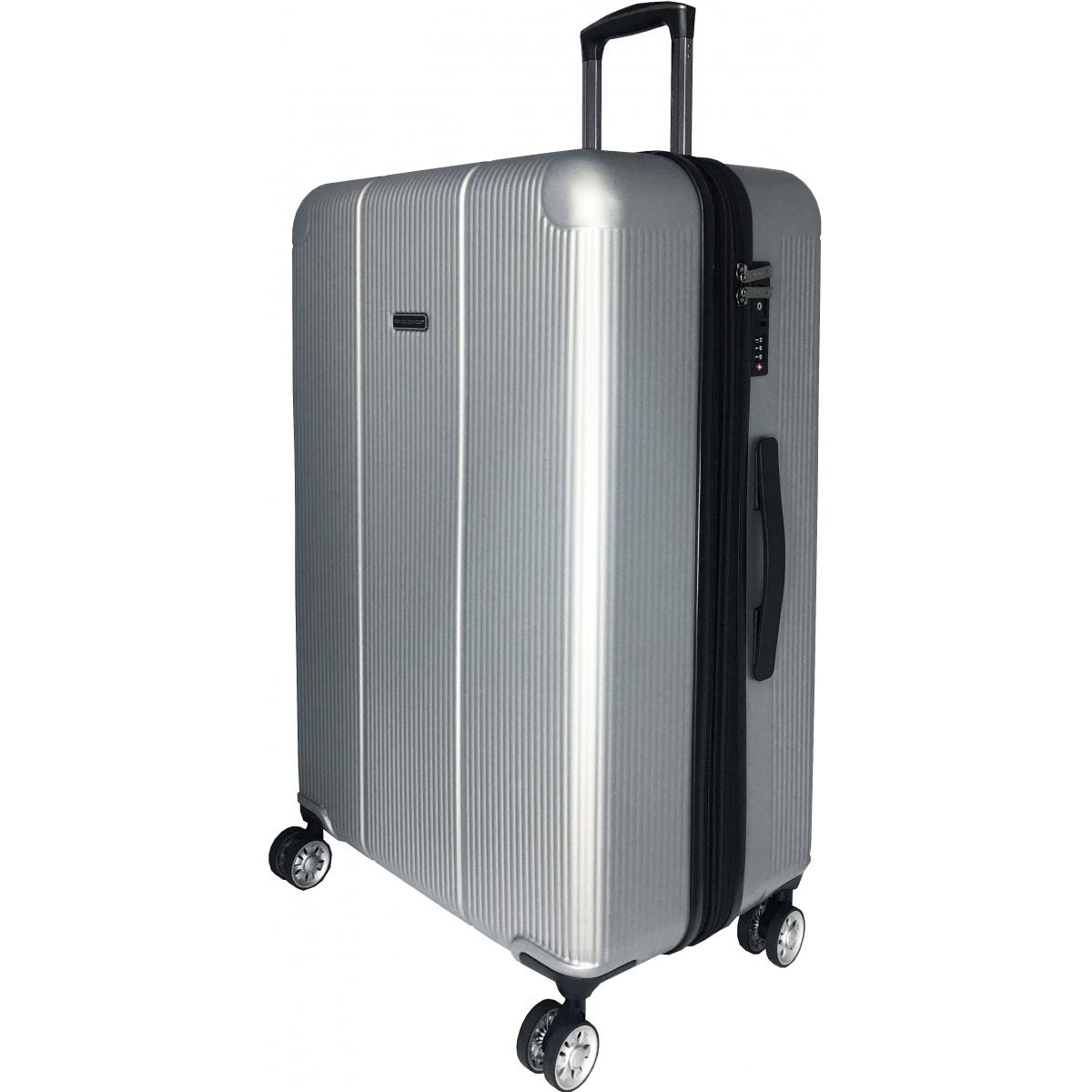 valise rigide david jones tsa abs 77 cm grande taille ba10251g gris couleur principale. Black Bedroom Furniture Sets. Home Design Ideas