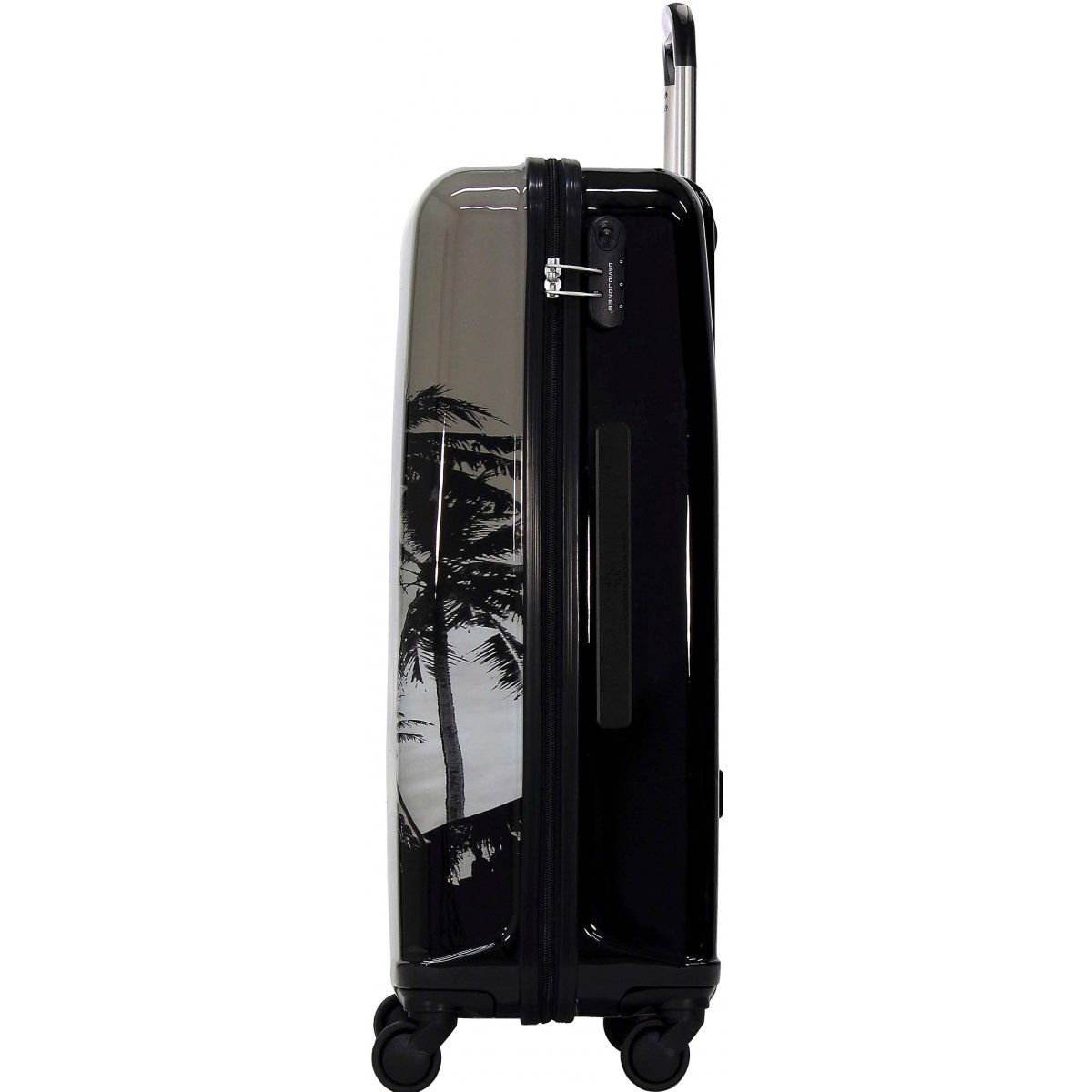 valise rigide david jones 76cm ba20581g couleur principale palmiers solde. Black Bedroom Furniture Sets. Home Design Ideas