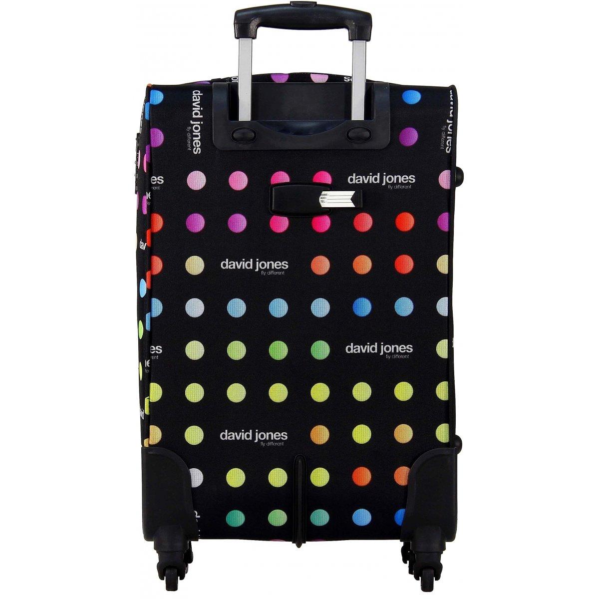 valise souple david jones taille g 76cm ba50171g couleur principale little pois promotion. Black Bedroom Furniture Sets. Home Design Ideas