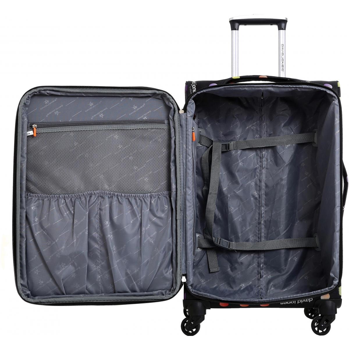 valise cabine souple david jones 56 cm ba50381p couleur principale little pois valise. Black Bedroom Furniture Sets. Home Design Ideas