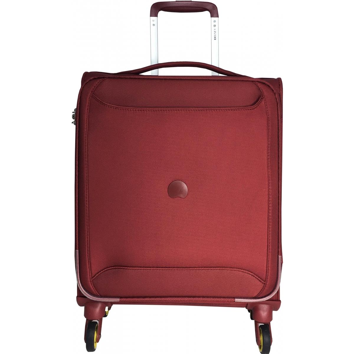 valise cabine souple delsey chartreuse tsa 55 cm chartreuse803 rouge couleur principale