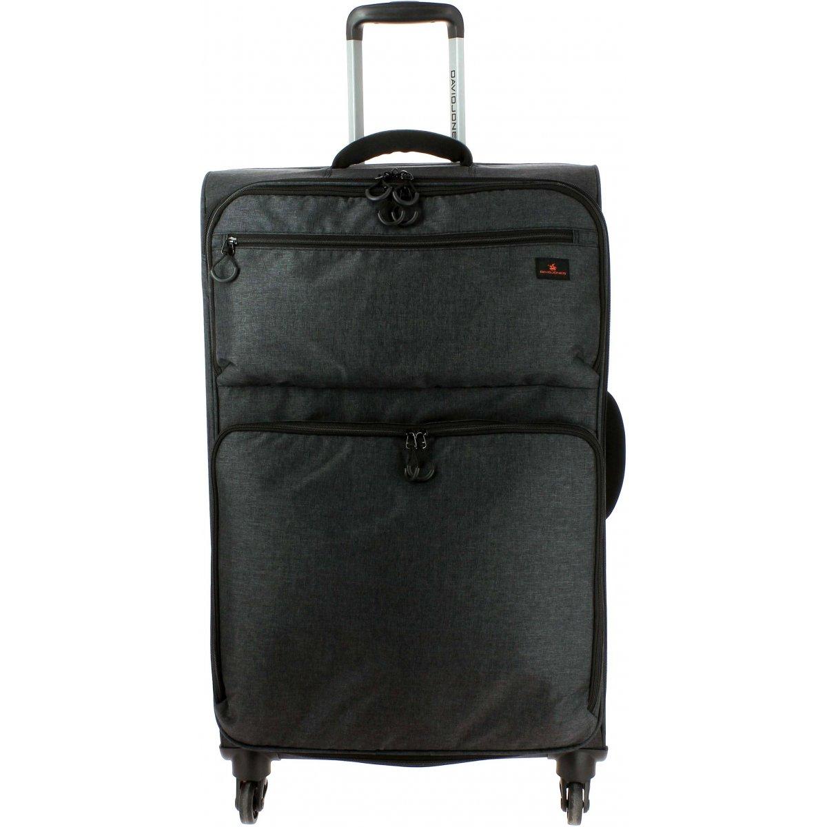 valise souple david jones polyester 77 cm grande taille ba50311g couleur principale noir. Black Bedroom Furniture Sets. Home Design Ideas
