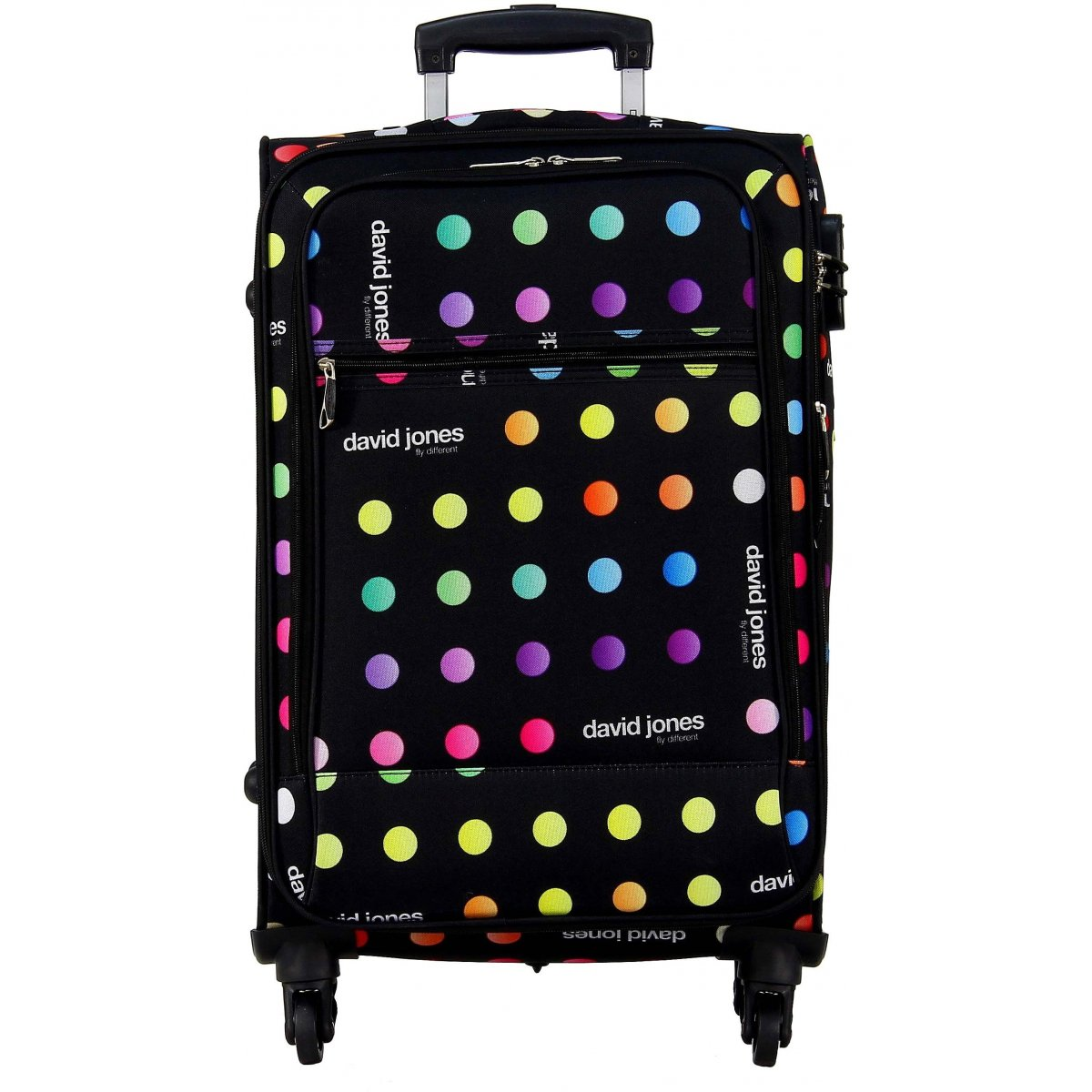 valise souple david jones taille m 66cm ba50171m couleur principale little pois valise. Black Bedroom Furniture Sets. Home Design Ideas