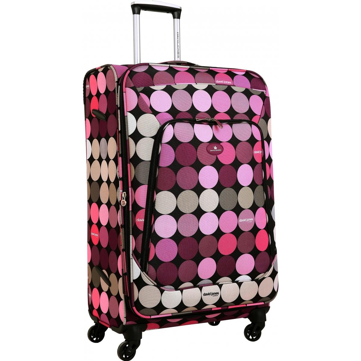 valise souple extensible david jones taille m 67 cm ba50391m couleur principale rond. Black Bedroom Furniture Sets. Home Design Ideas