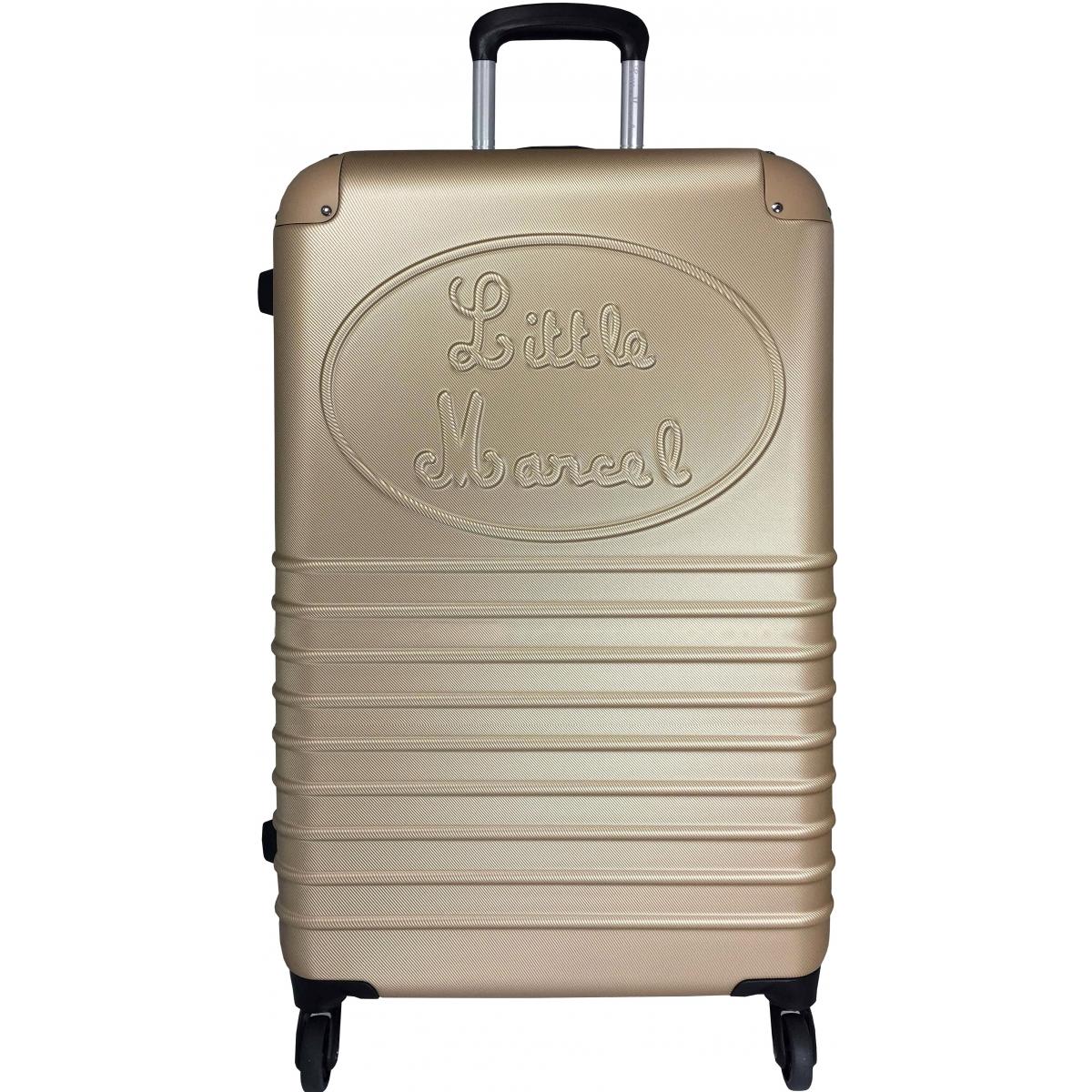 valise rigide little marcel grande taille champagne ba10221g couleur principale. Black Bedroom Furniture Sets. Home Design Ideas