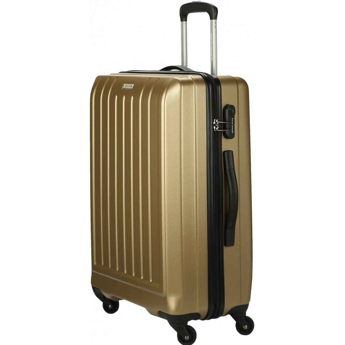 valise rigide david jones taille g 76cm ba10151g couleur principale champagne valise pas. Black Bedroom Furniture Sets. Home Design Ideas