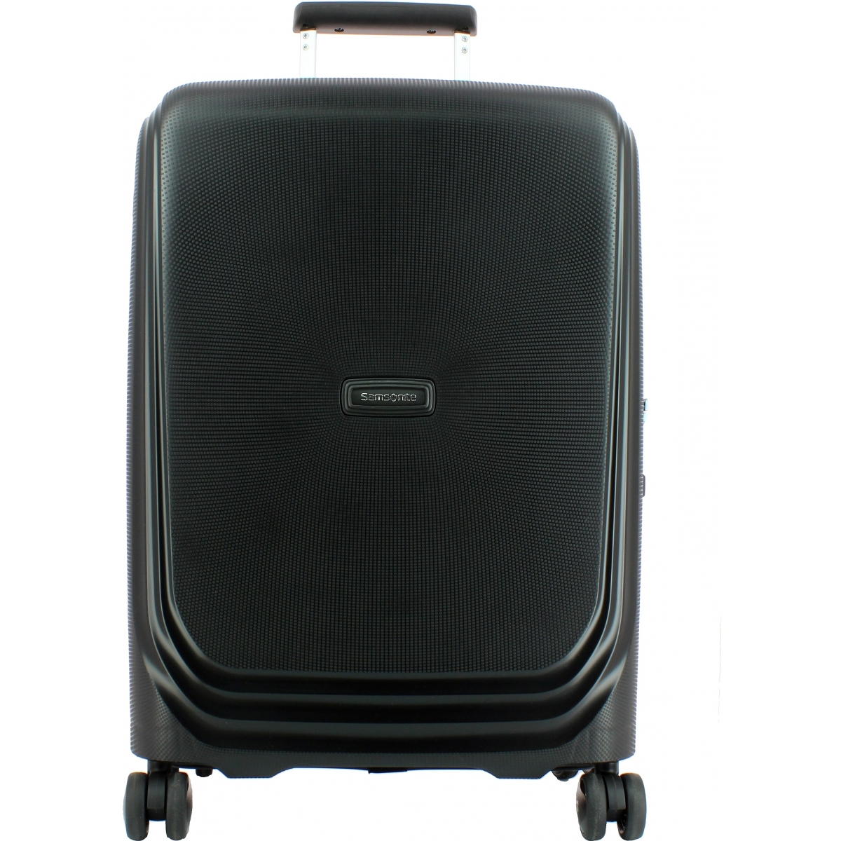 valise cabine optic spinner 55 20 samsonite optic86 couleur principale noir promotion. Black Bedroom Furniture Sets. Home Design Ideas