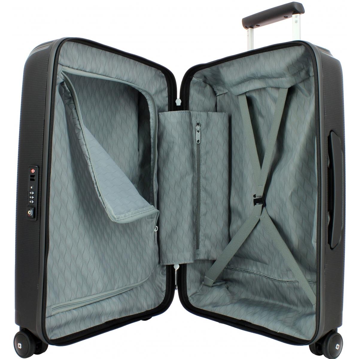 valise cabine optic spinner 55 20 samsonite optic86 couleur principale noir promotion. Black Bedroom Furniture Sets. Home Design Ideas