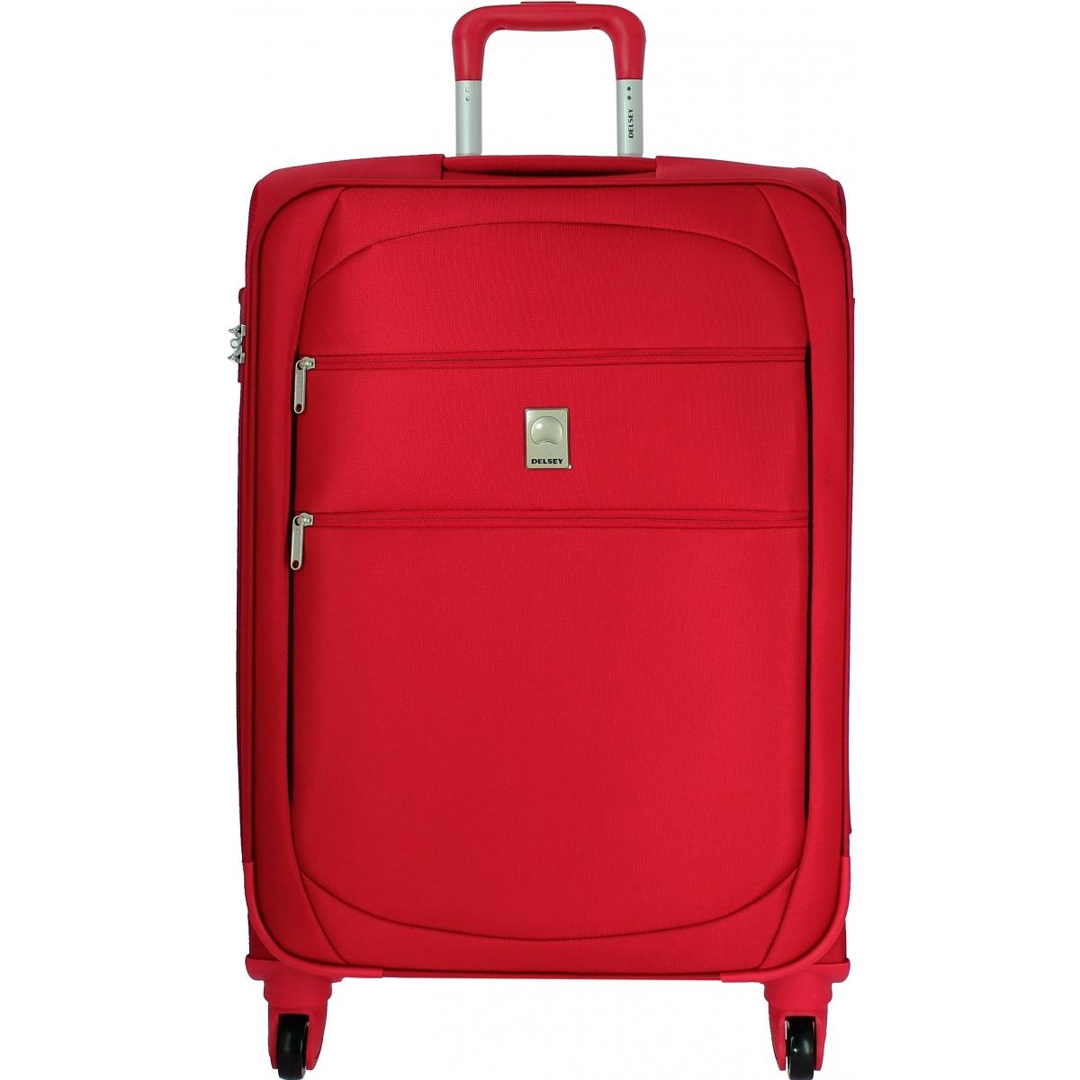valise souple tsa delsey trip 78cm trip821 couleur principale rouge valise pas cher. Black Bedroom Furniture Sets. Home Design Ideas