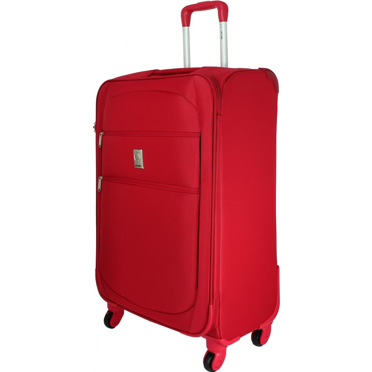 Valise souple tsa delsey trip 78cm trip821 couleur principale rouge v - Valise a prix discount ...
