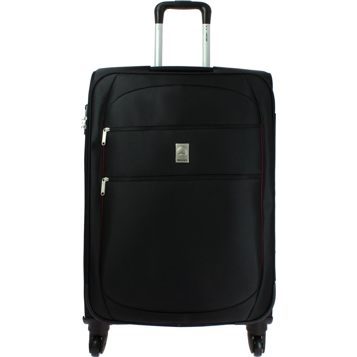valise souple tsa delsey trip 68cm trip810 couleur principale noir valise pas cher solde. Black Bedroom Furniture Sets. Home Design Ideas