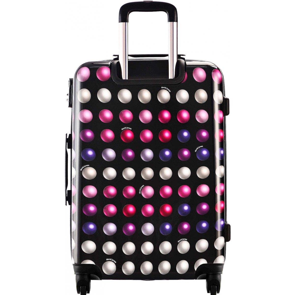 lot 3 valises rigides dont 1 valise cabine david jones abs poly ba20563 buzzrose couleur. Black Bedroom Furniture Sets. Home Design Ideas
