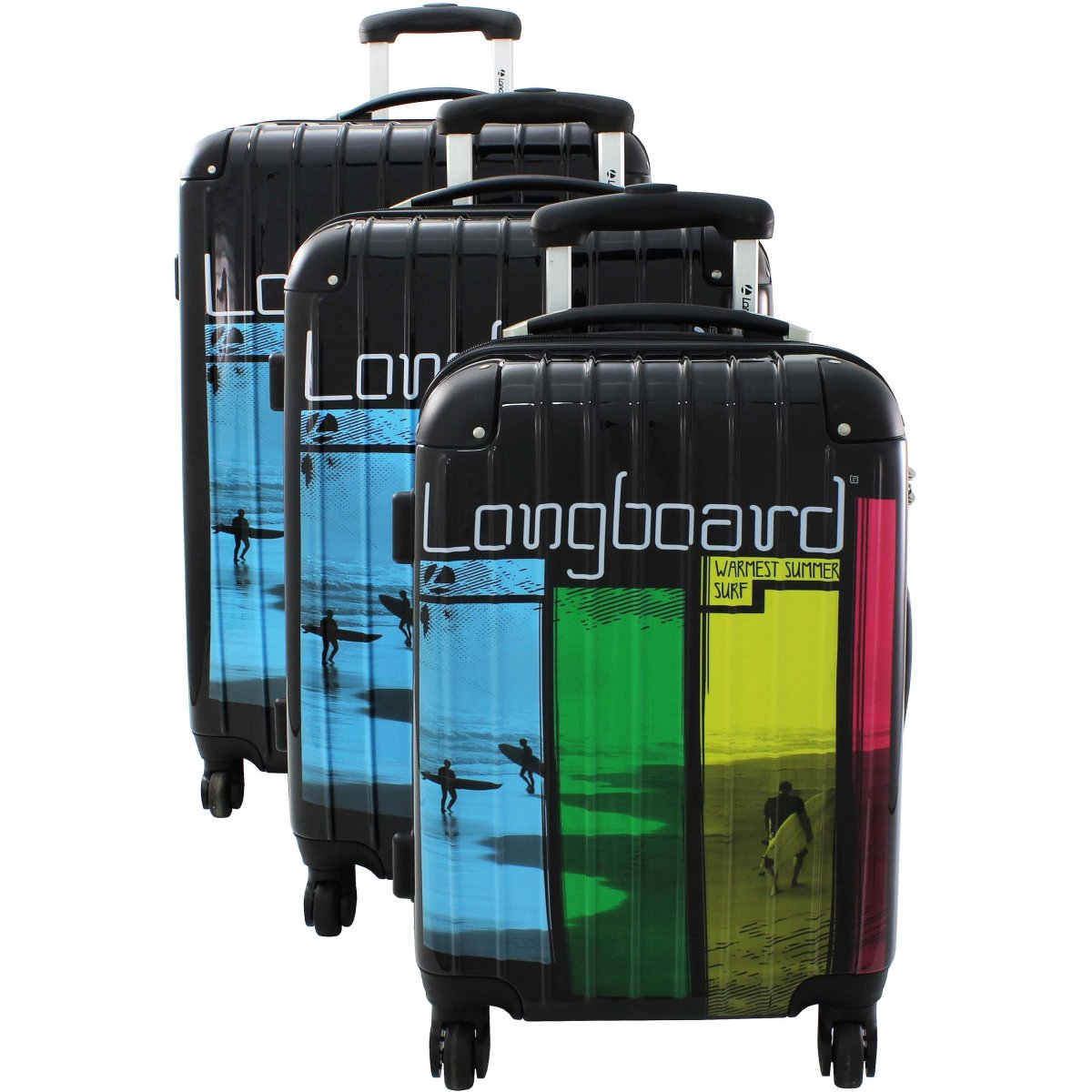 lot 3 valises longboard 441014 couleur principale noir promotion. Black Bedroom Furniture Sets. Home Design Ideas