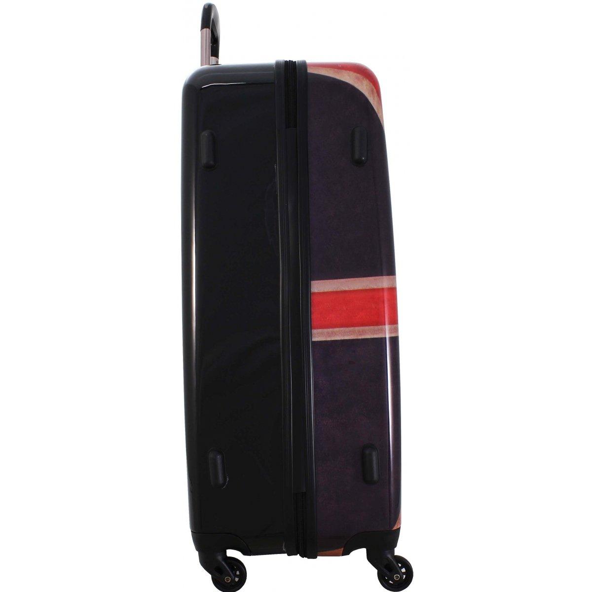 valise rigide david jones 76cm ba20571g couleur principale drapeau uk solde. Black Bedroom Furniture Sets. Home Design Ideas