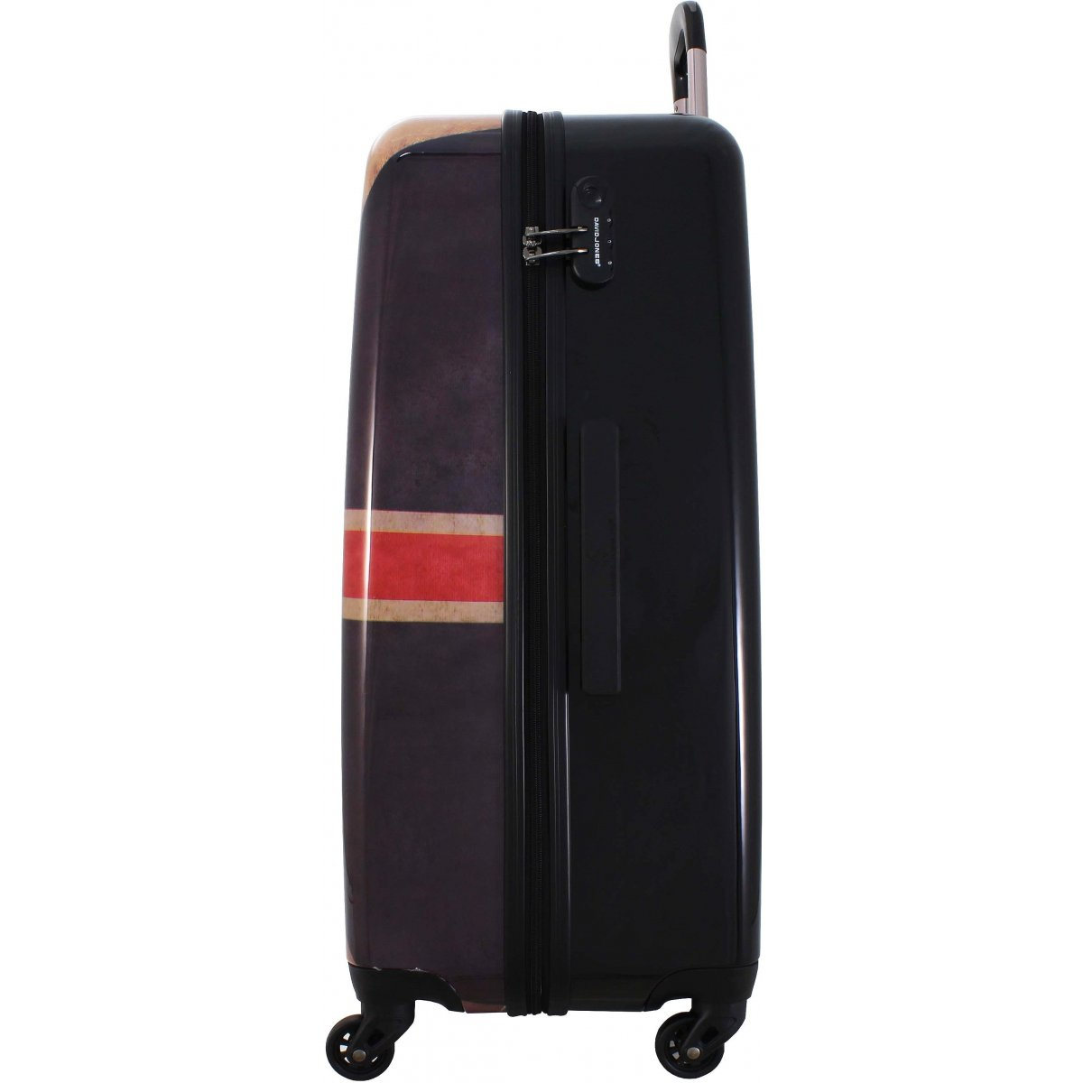 valise rigide david jones 66cm ba20571m couleur principale drapeau uk promotion. Black Bedroom Furniture Sets. Home Design Ideas