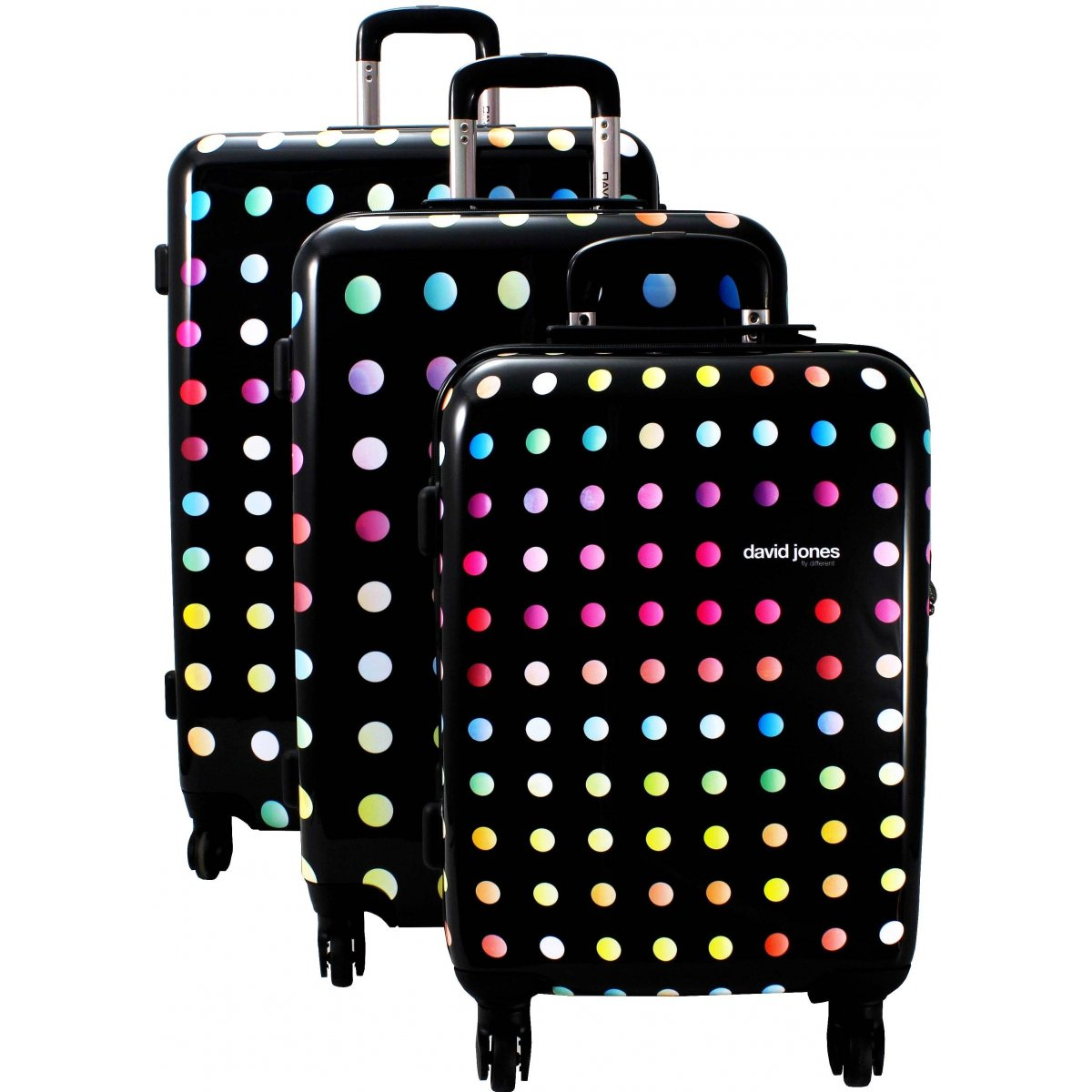 Lot 3 valises dont 1 cabine ryanair david jones ba20553 couleur principale little pois - Valise pas cher leclerc ...
