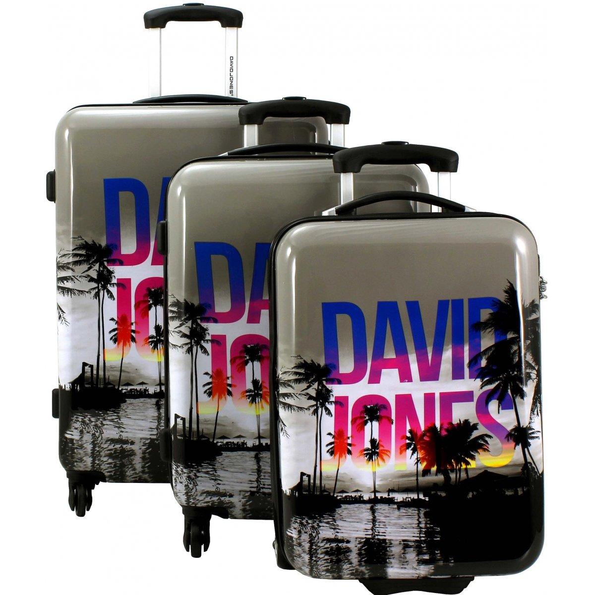 lot 3 valises dont 1 cabine ryanair david jones poly couleur principale palmiers promotion. Black Bedroom Furniture Sets. Home Design Ideas