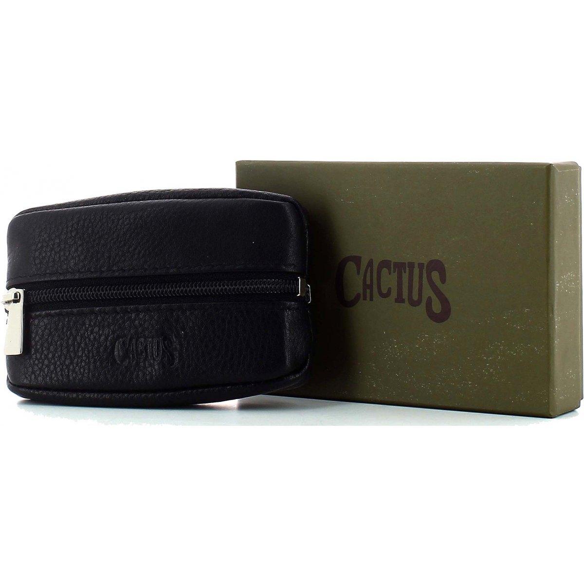 Porte monnaie cuir cactus b58461031 couleur noir for Porte bracelet pas cher