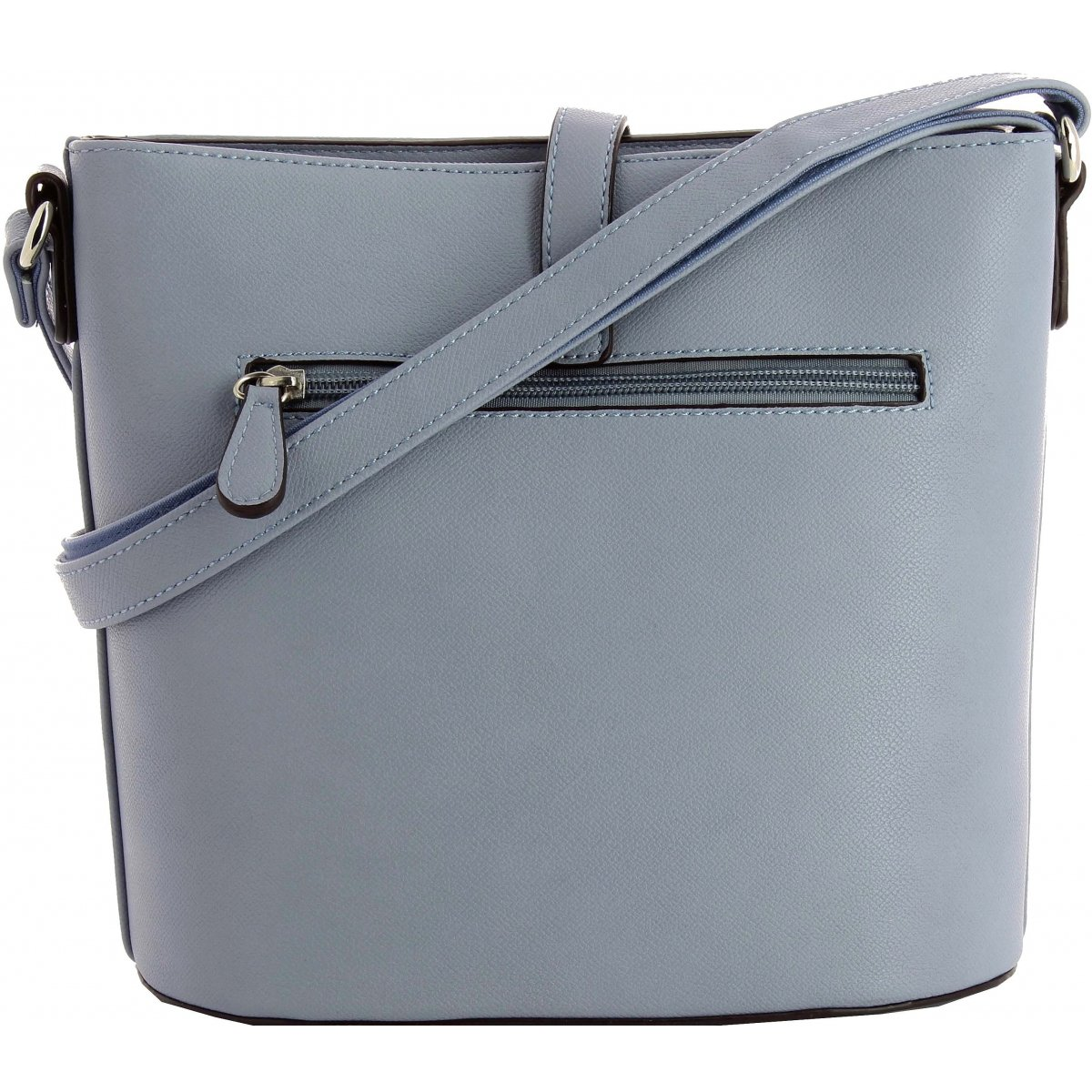 Sac A Main Bleu Pale : Sac ? main bandouli?re david jones dj couleur