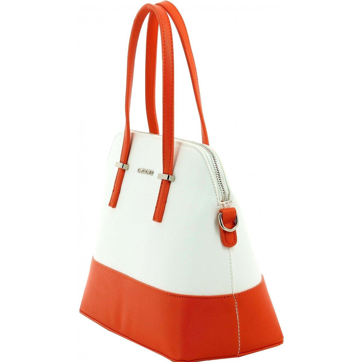 sac main david jones dj50771 couleur principale white orange. Black Bedroom Furniture Sets. Home Design Ideas