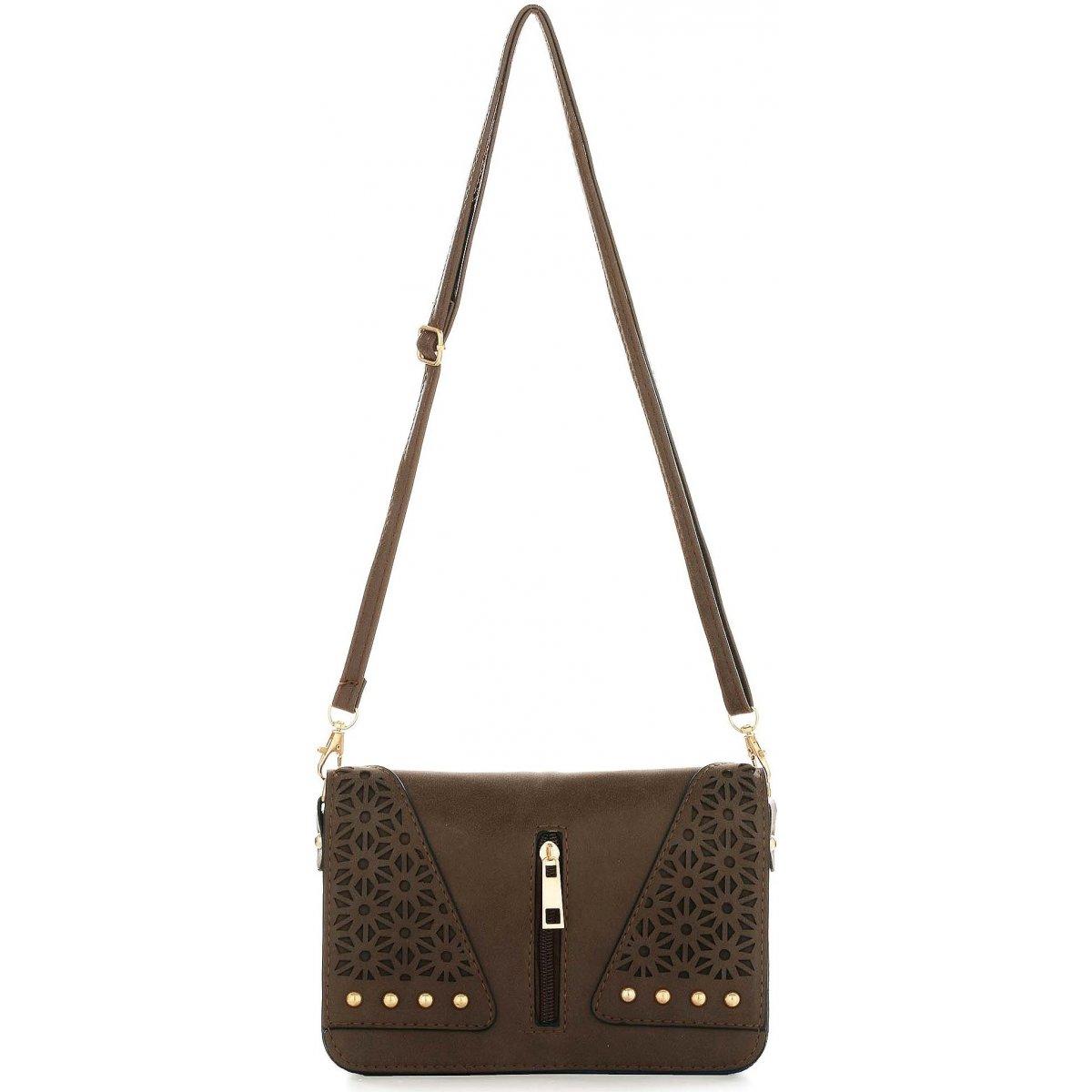 sac pochette bandouli re les sacs de k 39 rlot fkg0019 couleur marron fonce. Black Bedroom Furniture Sets. Home Design Ideas