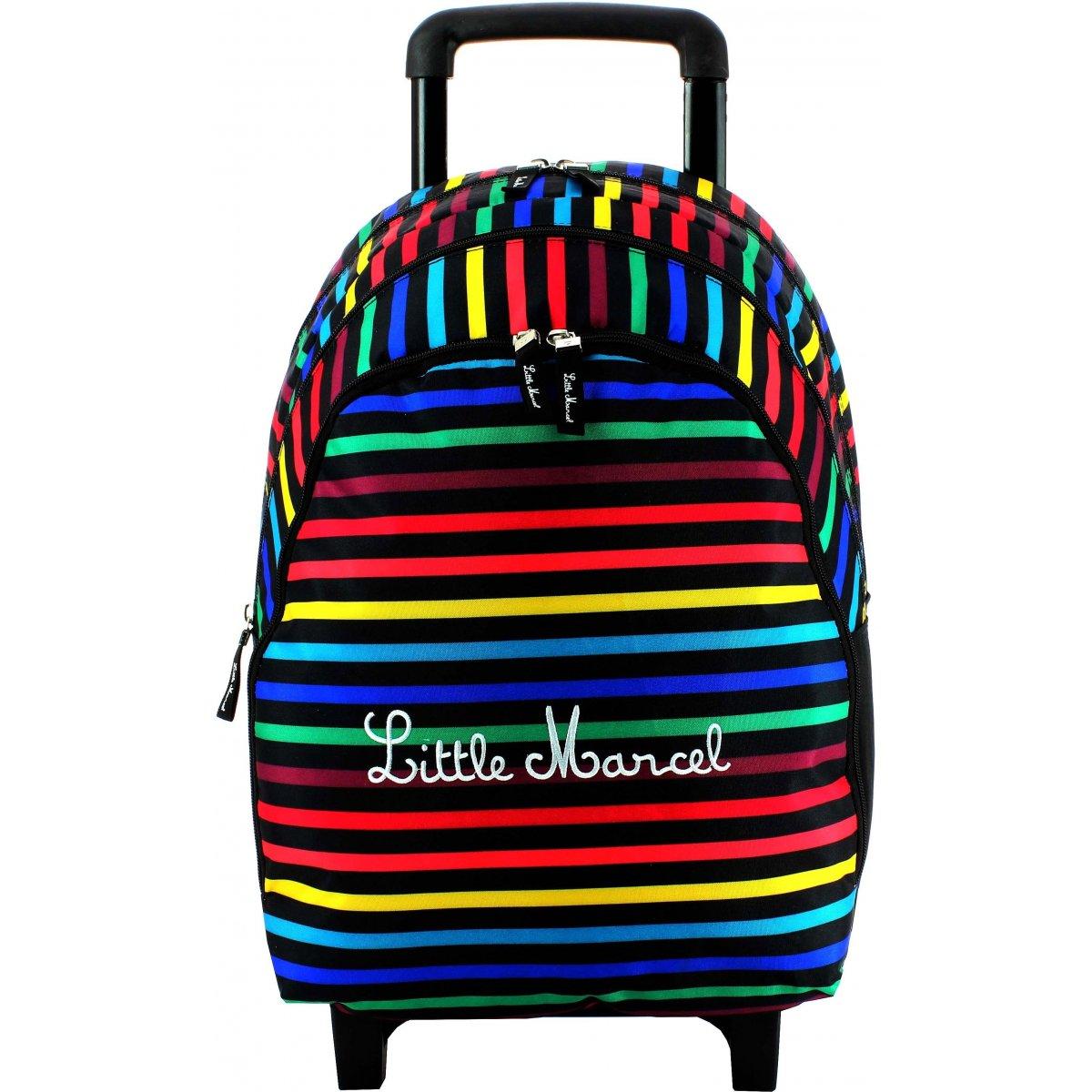 sac dos scolaire roulettes little marcel rimbau235 couleur principale assortis solde. Black Bedroom Furniture Sets. Home Design Ideas