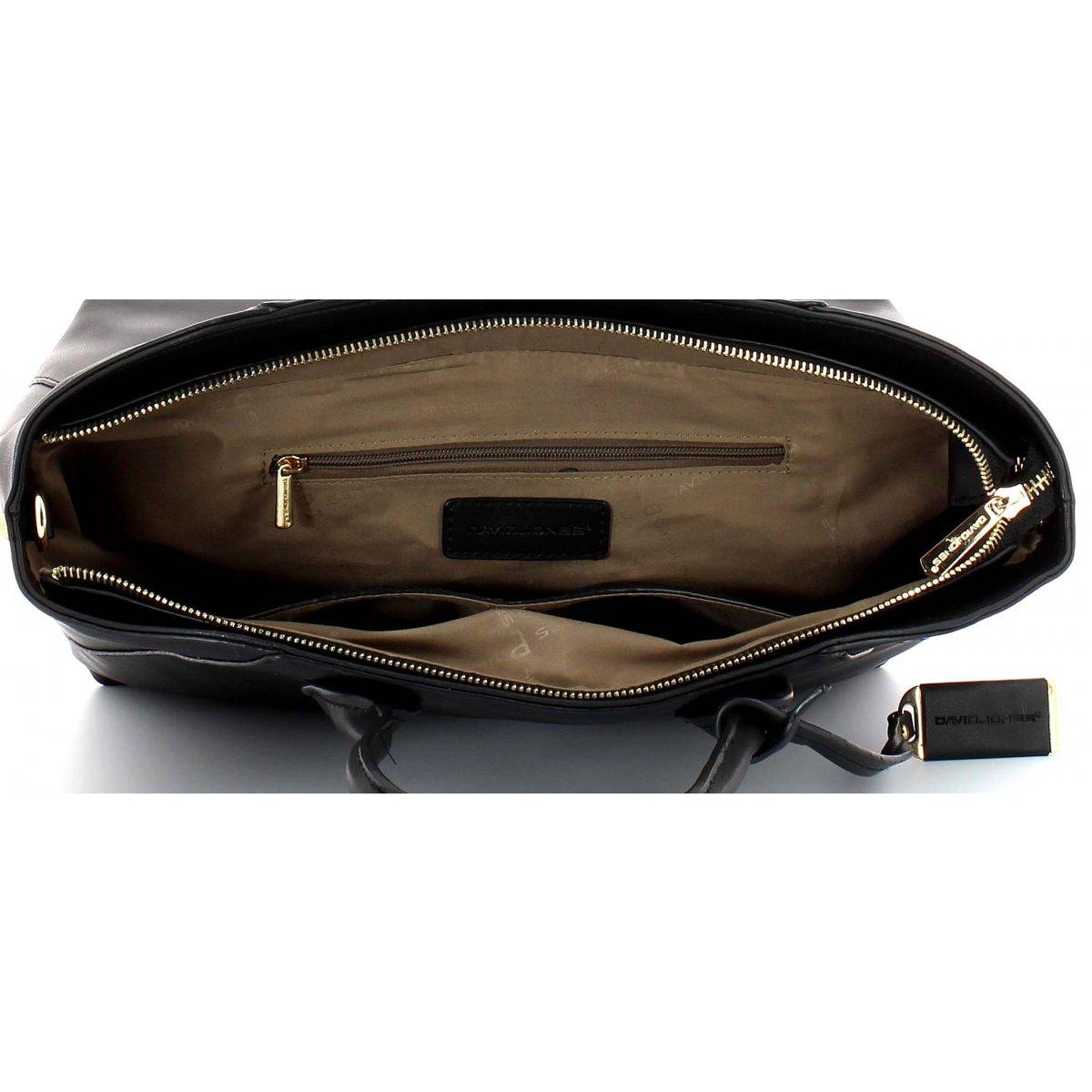sac main cuir david jones dja13212 couleur principale taupe. Black Bedroom Furniture Sets. Home Design Ideas